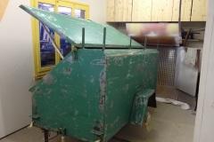 Vorher: Materialwagen