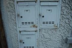 Vorher: Briefkästen