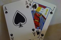 Pokerkarten Freihandzeichnung
