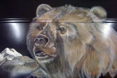Bär, Freihand mit Pinsel